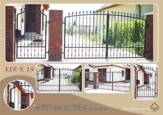 KER-K-19 egyedi kovácsoltvas kerítés