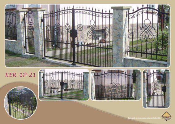 KER-P-21 horganyzott kerítés
