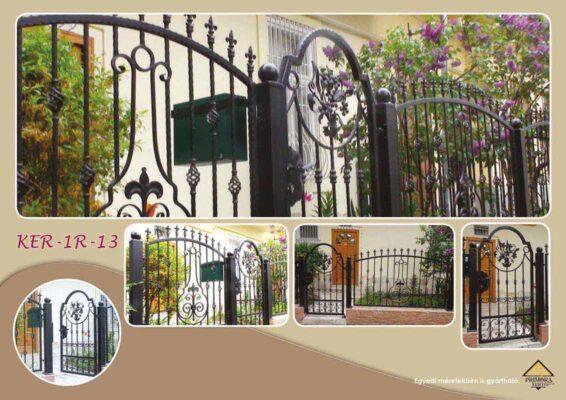 KER-R-13 virágmintás kerítés